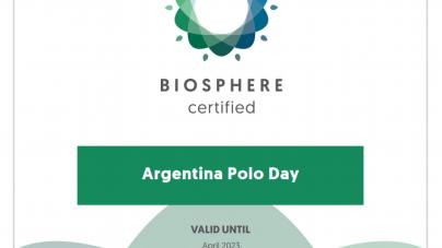 Argentina Polo Day: Primer Empresa Argentina En Obtener Certificado Biosphere de Turismo Sostenible