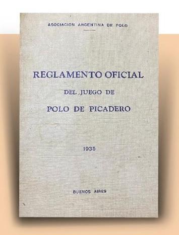 foto portada reglamento oficial del juego de polo de picadero 1935